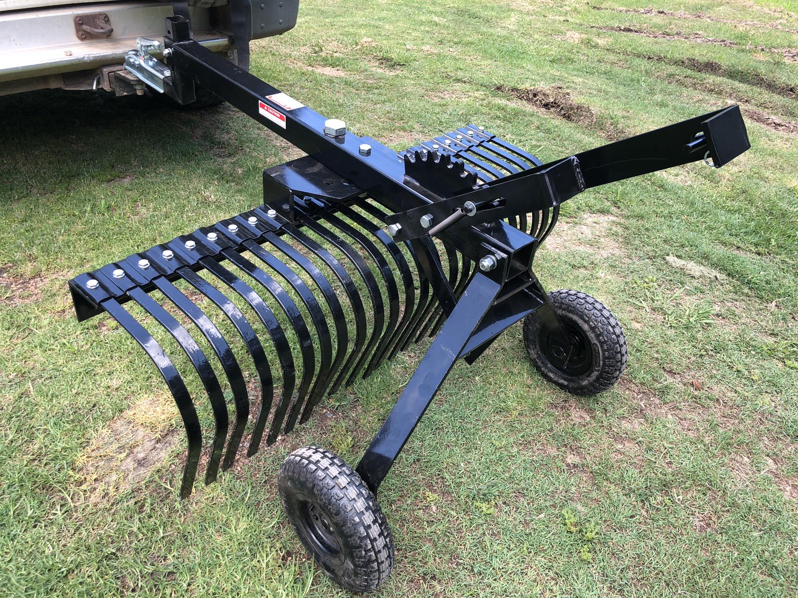 Details about Towable Stick Rake - 4ft - Tow Behind ATV, UTV, Ride-on, Ute,  4WD etc